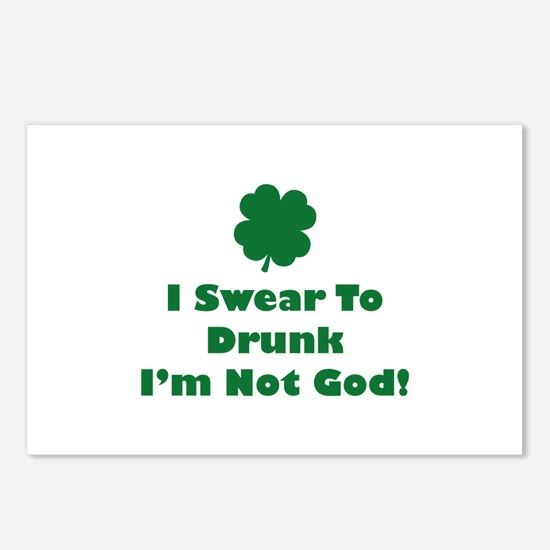 I swear to drunk I'm not God! Postcards (Package o