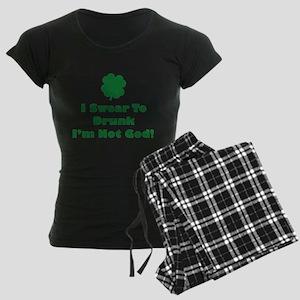 I swear to drunk I'm not God! Women's Dark Pajamas