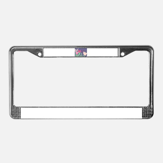 Christophers Tulips. License Plate Frame