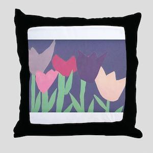 Christophers Tulips. Throw Pillow