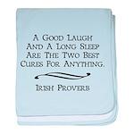 Irish Proverb baby blanket