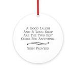 Irish Proverb Ornament (Round)