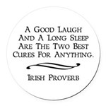 Irish Proverb Round Car Magnet