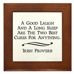 Irish Proverb Framed Tile