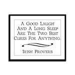 Irish Proverb Framed Panel Print