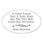 Irish Proverb Sticker (Oval)