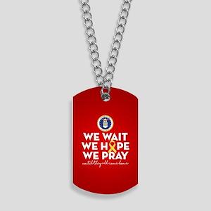 USAF We Wait Hope Pray Dog Tags