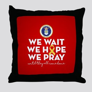 USAF We Wait Hope Pray Throw Pillow
