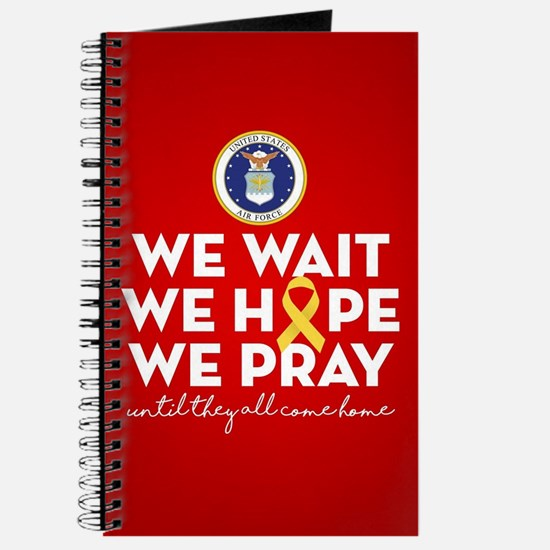 USAF We Wait Hope Pray Journal