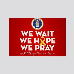 USAF We Wait Hope Pray Rectangle Magnet