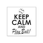 Keep Calm Play Ball Sticker