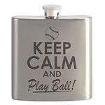 Keep Calm Play Ball Flask