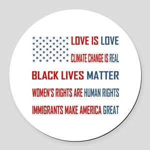 Love is Love Round Car Magnet