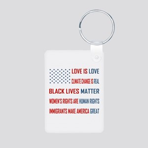 Love Is Aluminum Photo Keychain Keychains