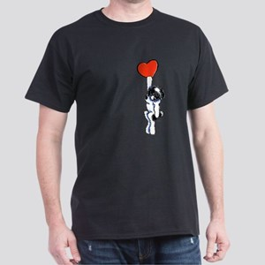 Black Parti Havanese Heart T-Shirt