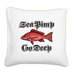 Sea Pimp Go Deep Square Canvas Pillow