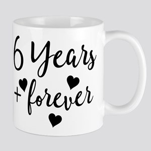 6th Anniversary Couples Gift Mugs