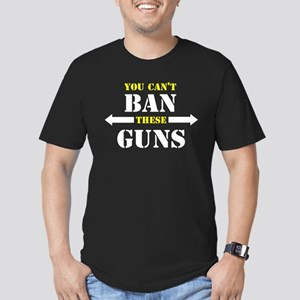 You can't ban these guns Men's Fitted T-Shirt (dar