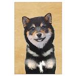Shiba Inu (Black and Tan) Large Poster