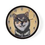 Shiba Inu (Black and Tan) Wall Clock