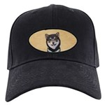 Shiba Inu (Black and Tan) Black Cap with Patch