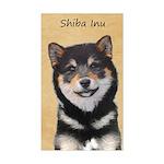 Shiba Inu (Black and Tan) Sticker (Rectangle)