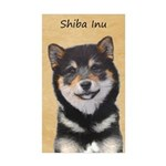 Shiba Inu (Black and Tan Sticker (Rectangle 10 pk)