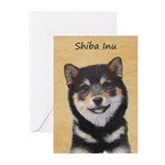 Shiba Inu (Black and Tan Greeting Cards (Pk of 10)