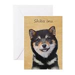 Shiba Inu (Black and Tan Greeting Cards (Pk of 20)