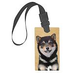 Shiba Inu (Black and Tan) Large Luggage Tag