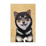Shiba Inu (Black and Tan) Mini Poster Print
