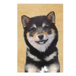 Shiba Inu (Black and Tan) Postcards (Package of 8)