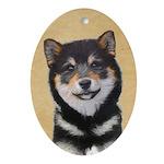Shiba Inu (Black and Tan) Oval Ornament