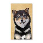 Shiba Inu (Black and Tan) 20x12 Wall Decal
