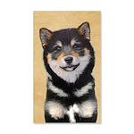Shiba Inu (Black and Tan) 35x21 Wall Decal