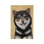 Shiba Inu (Black and T Rectangle Magnet (100 pack)