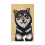 Shiba Inu (Black and Tan Sticker (Rectangle 50 pk)