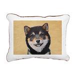 Shiba Inu (Black and Tan Rectangular Canvas Pillow