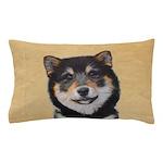 Shiba Inu (Black and Tan) Pillow Case