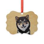 Shiba Inu (Black and Tan) Picture Ornament