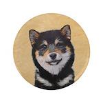 Shiba Inu (Black and Tan) Button