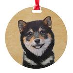 Shiba Inu (Black and Tan) Round Ornament