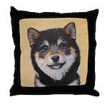 Shiba Inu (Black and Tan) Throw Pillow