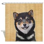 Shiba Inu (Black and Tan) Shower Curtain