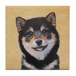 Shiba Inu (Black and Tan) Tile Coaster