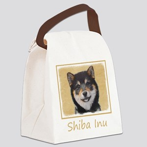 Shiba Inu (Black and Tan) Canvas Lunch Bag