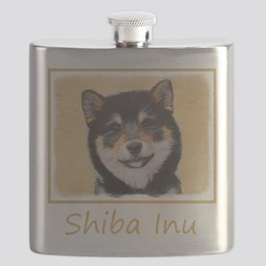 Shiba Inu (Black and Tan) Flask