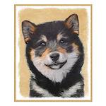 Shiba Inu (Black and Tan) Small Poster