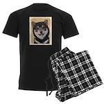 Shiba Inu (Black and Tan) Men's Dark Pajamas
