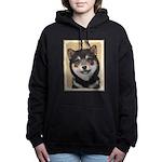 Shiba Inu (Black and Tan Women's Hooded Sweatshirt
